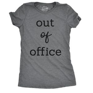 NWOT Out of Office Graphic T Shirt Crazy Dog
